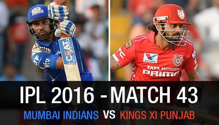 Indian Premier League 2016, Match 43: Mumbai Indians vs Kings XI Punjab — As it happened...