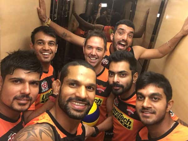 The boys are pumped and ready for tomorrow's big game!- twitter@SDhawan25