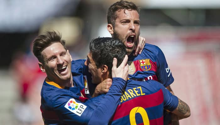 That man, that team again! Luis Saurez scores hat-trick; Barcelona defend La Liga title on final day