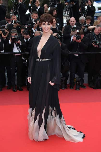 Actress Paz Vega poses for photographers upon arrival for the screening of the film The BFG at the 69th international film festival, Cannes.