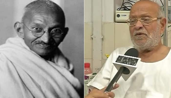 PM speaks to Mahatma Gandhi's grandson living in Delhi old-age home; Kanubhai calls himself 'Modi bhakt', slams Sonia