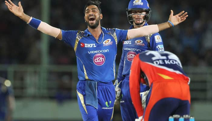 IPL 2016, Match 47: Krunal Pandya's 86 powers Mumbai Indians to 80-run win over Delhi Daredevils