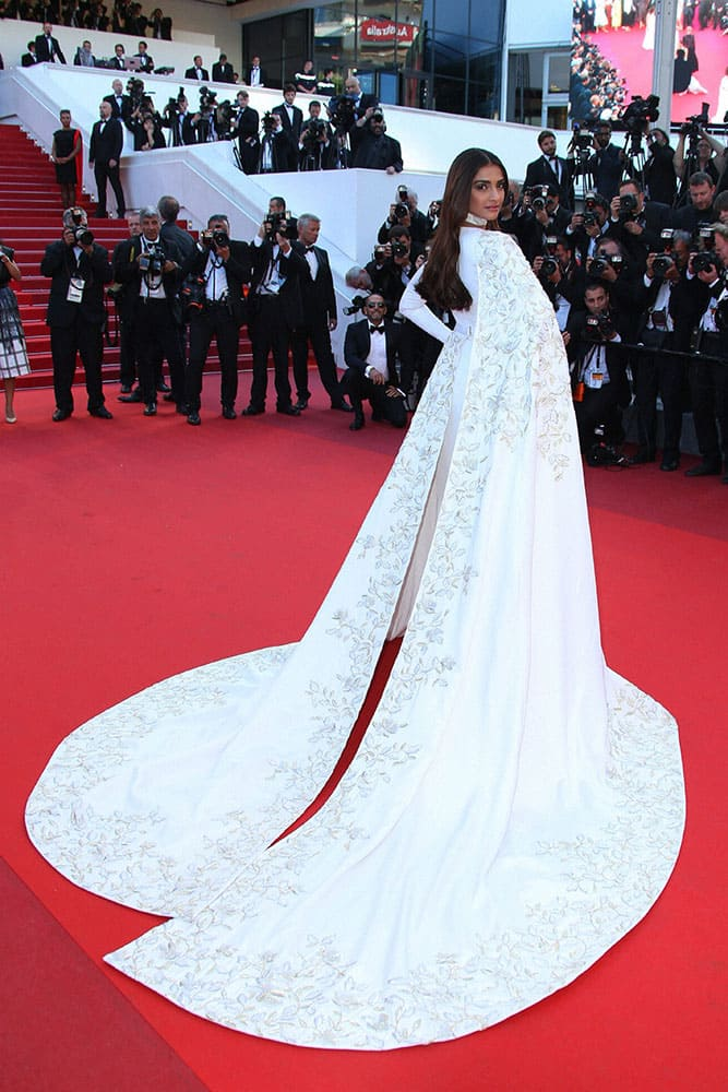 Actress Sonam Kapoor poses for a portrait photograph at the 69th international film festival, Cannes.