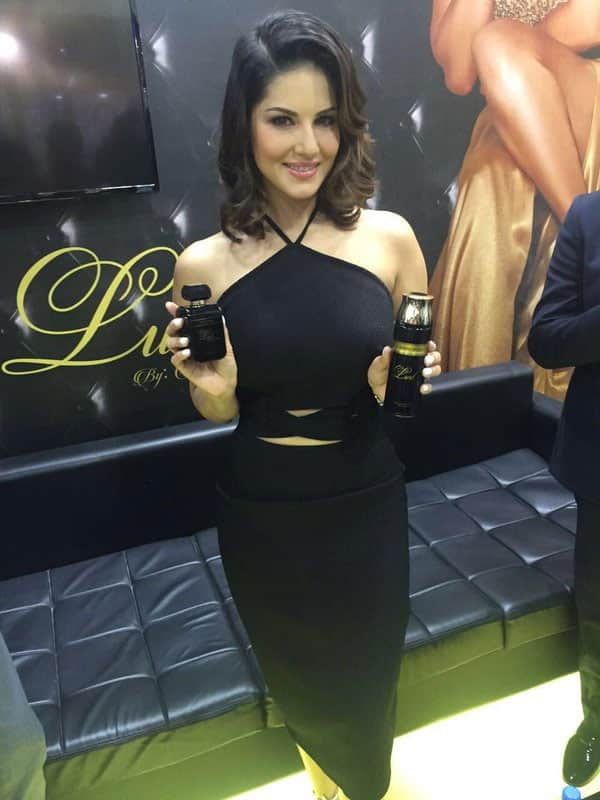 Today in Dubai we're with actress @SunnyLeone who's just launched her new fragrance. - Twitter@GulfNewsTabloid