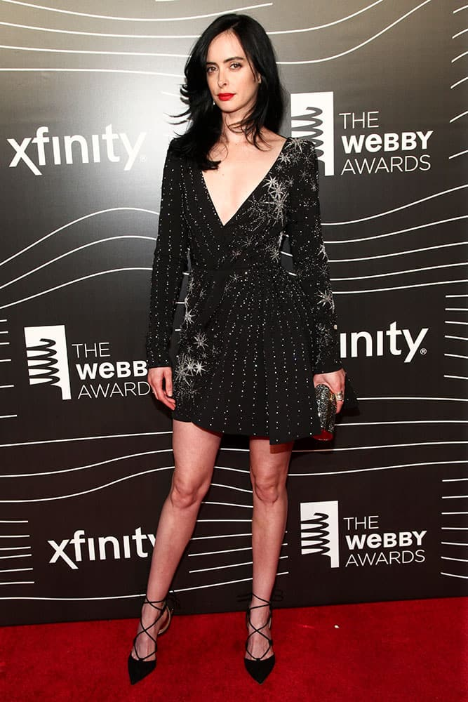 Krysten Ritter attends the 20th Annual Webby Awards at Cipriani Wall Street  in New York.
