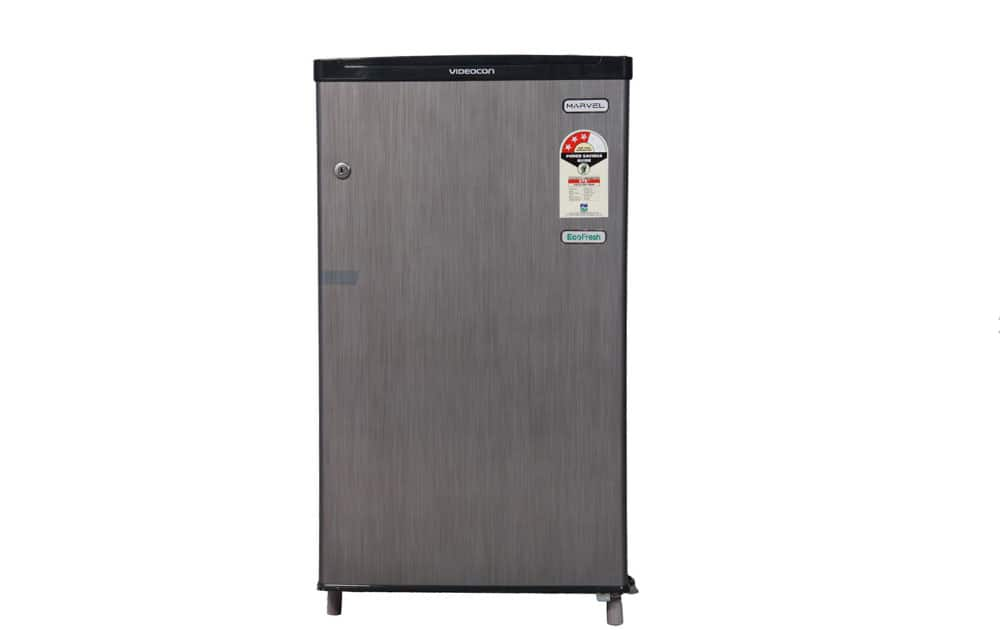 Videocon VC090PSH Direct Cool 80 Ltr  priced at Rs 8,110 (Snapdeal). It comes with 80 Ltr capacity, Wire Shelves,solid body design, and 1 Year Comprehensive + 5 Years on Compressory warranty.