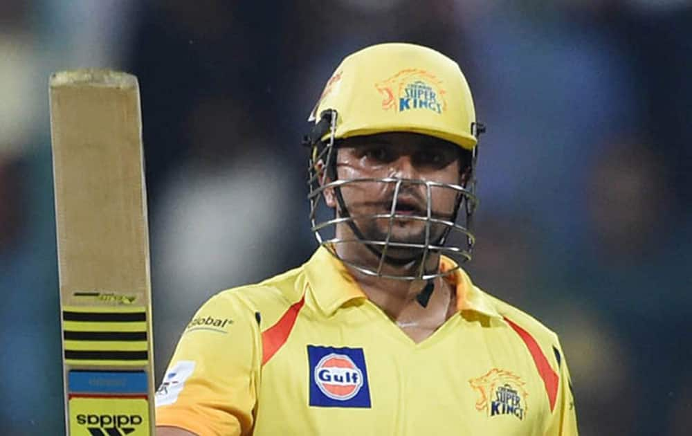 Suresh Raina scored a fifty in 16 balls which is the second fastest ever in the IPL against the Kings XI Punjab for the Chennai Super Kings at the Wankhede Stadium in Mumbai.