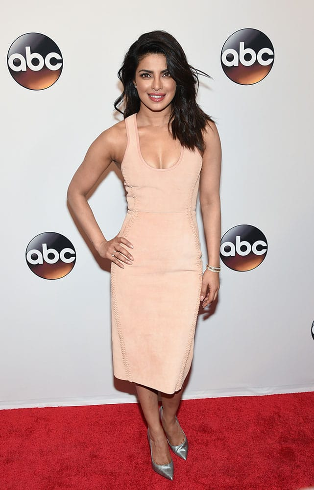Actress Priyanka Chopra attends the ABC 2016 Network Upfront Presentation at David Geffen Hall in New York.