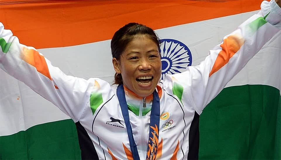 MC Mary Kom - She is a five-time World Amateur Boxing champion, and the only woman boxer to have won a medal in each one of the six World Championships.