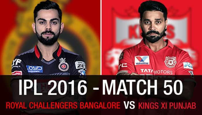 Indian Premier League 2016, Match 50: Royal Challengers Bangalore vs Kings XI Punjab — As it happened...