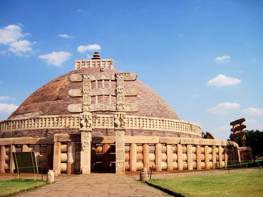 Sanchi Stupa in India.