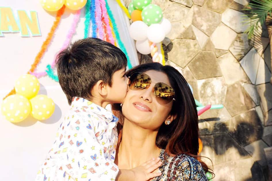 Happy bday @ViaanRajKundra,4years ago you gave birth to the Mother in me.The best role of my life Blessed- twitter@TheShilpaShetty