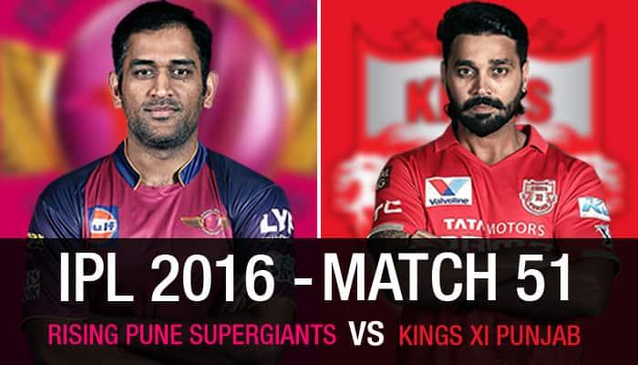 Indian Premier League 2016 - Rising Pune Supergiants vs Kings XI Punjab - As it happened...