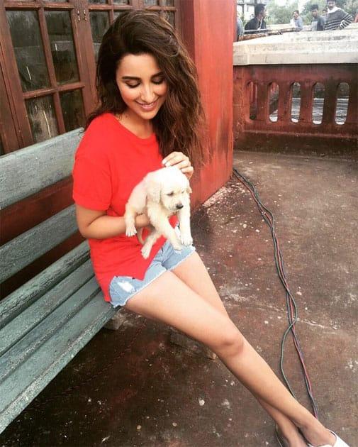 Bindu's new friend - Devdas!! My filmy dog :)!!- twitter@ParineetiChopra