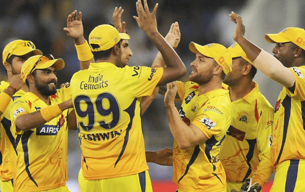 The Chennai Super Kings occupy the third spot with a total of 246 runs against the Rajasthan Royals at the M. A. Chidambaram Stadium in Chennai.