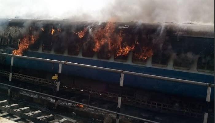 Shocking! Huge fire engulfs two coaches of Jaisalmer-Delhi Intercity Express