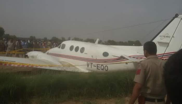 Air ambulance with seven people crash lands in Delhi's Najafgarh