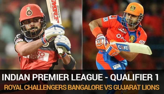 Indian Premier League 9, Qualifier 1: Royal Challengers Bangalore vs Gujarat Lions - As it happened...