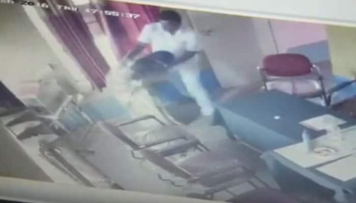 Caught on camera: Gram Panchayat president attempting to rape woman in Mandya