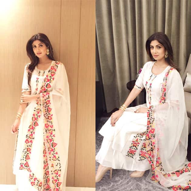 Feeling so comfi in this beautiful, light breezy creation by #abho . Love it #summery #indianwear #selfstyled- twitter@TheShilpaShetty