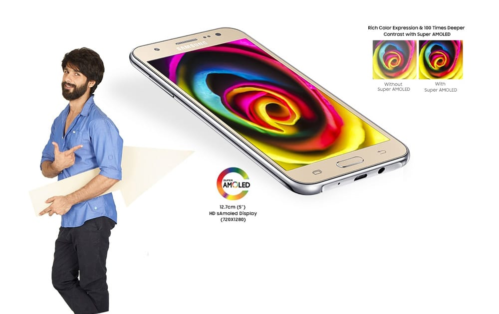 Samsung Galaxy J5 is priced Rs 13,990. The smartphone runs on Android 6.0 Marshmallow operating system and has a 5.2-inch HD display.
