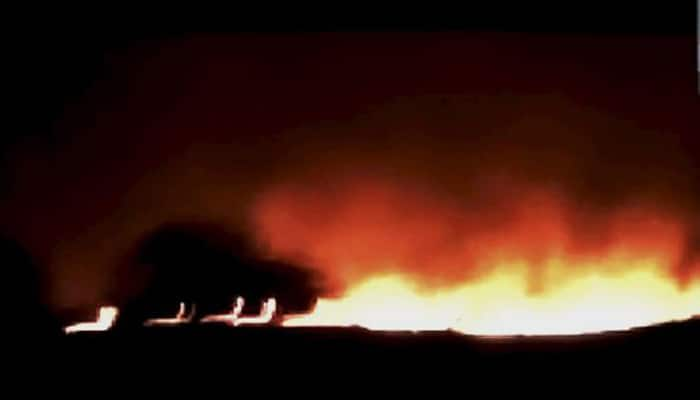 At least 16 dead in fire at India's biggest ammunition depot in Maharashtra's Pulgaon