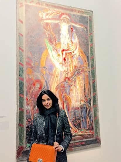 At the exhibition of one of my favorite painters George Desvalliers at petit palais in Paris #parisdiaries#art -twitter@mallikasherawat