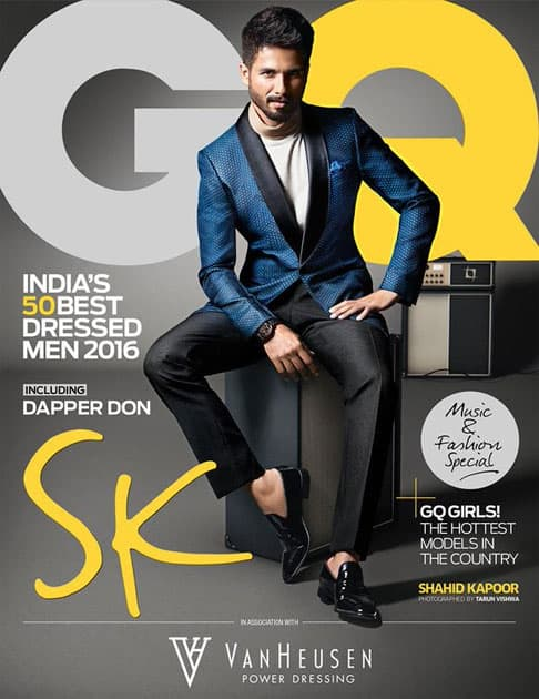 A special issue deserves an exceptional cover star. Introducing #GQBestDressed mascot @shahidkapoor.- twitter@gqindia