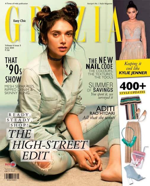 First cover wth @GraziaIndia #skatergirl @Mehernaaz @PashamAlwani @eltonjfernandez @aneevrao @EktaRajani @PepeJeans- twitter@aditiraohydari