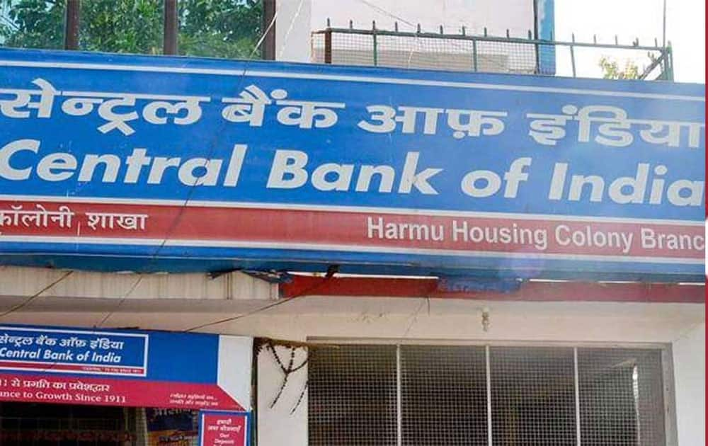4. CENTRAL BANK OF INDIA- Market capitalization - Rs 14,723.79 cr  till june 3, 2016