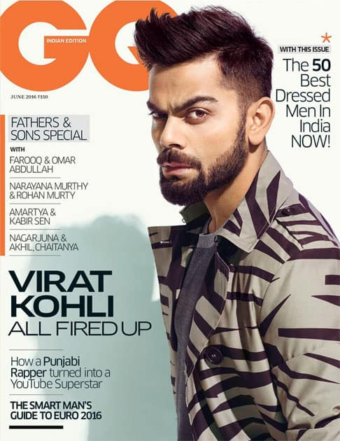 #CoverAlert for @gqIndia. Love the cover! Best Dressed is a huge compliment @CheKurrienGQ- twitter@imVkohli