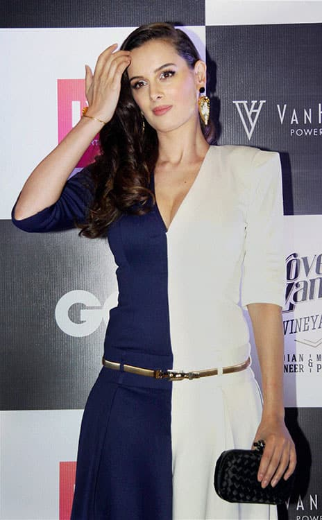 Bollywood actress Evelyn Sharma during GQ Best Dressed Men 2016 Awards in Mumbai.