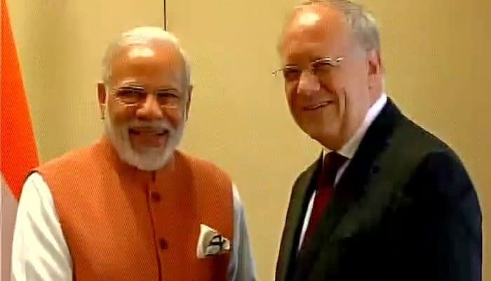 Modi in Geneva: PM meets President of Swiss Federation Johann Schneider-Ammann; black money on agenda