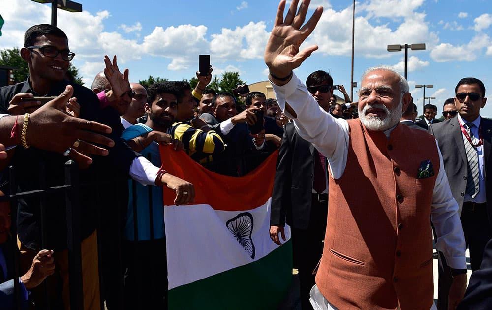 Prime Minister Narendra Modi at Joint Base Andrews (JBA), in Washington D.C.