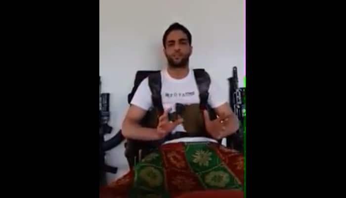 WATCH: Hizbul Mujahideen commander Burhan Wani spews venom against India; warns of attacks on Army, Hindus