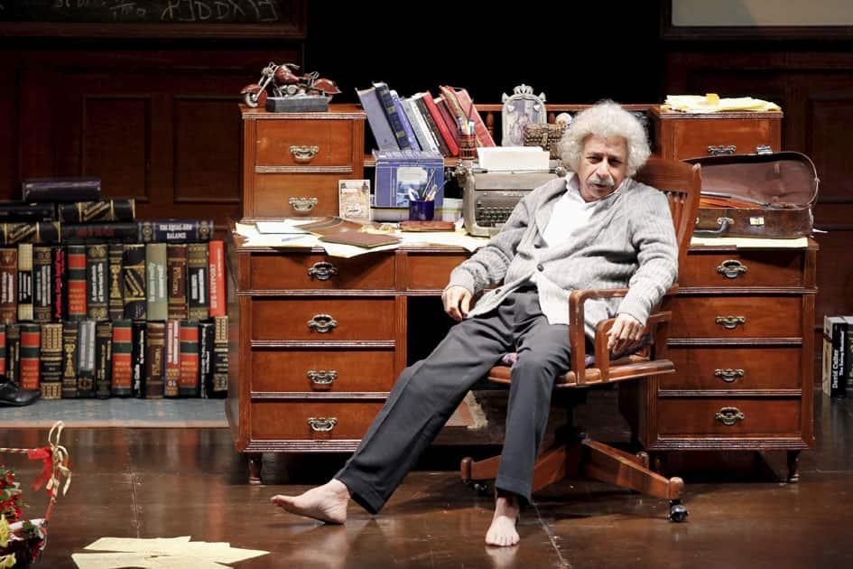 Naseeruddin Shah perfoms in a play Einstein