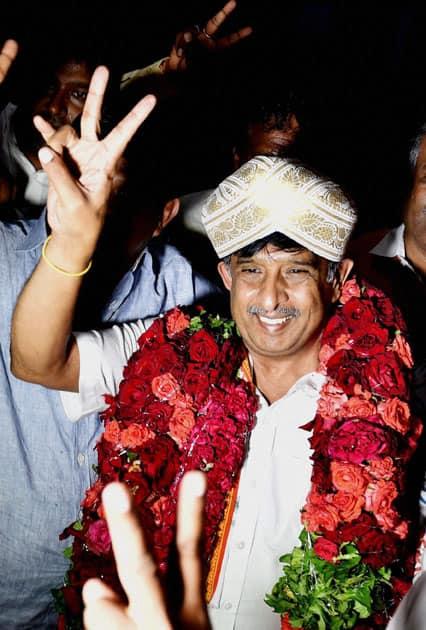 winning candidate for Rajyasabha
