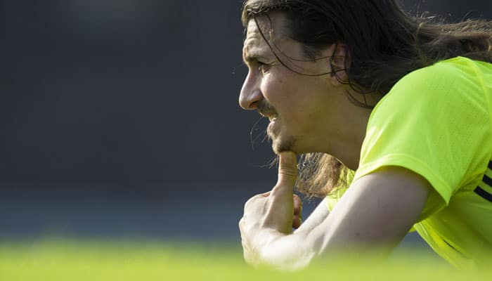 'Happy' Zlatan Ibrahimovic keeps Manchester United fans guessing