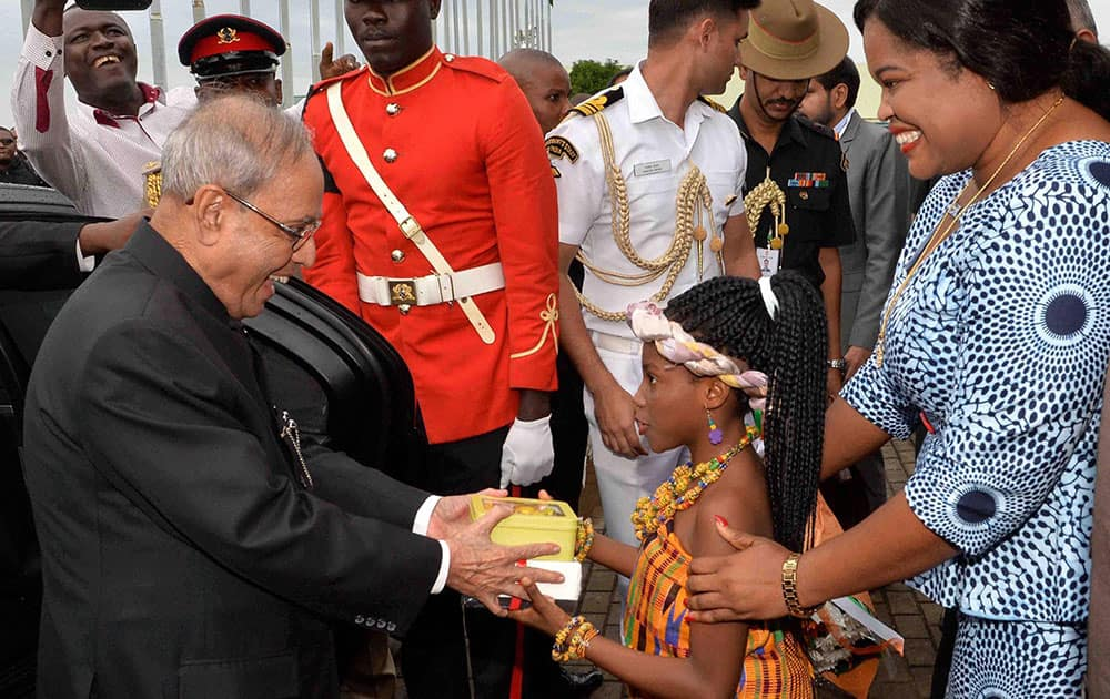 President Pranab Mukherjee in Ghana