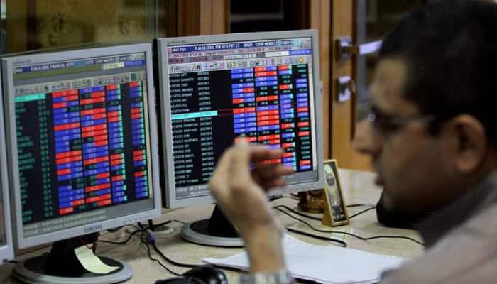 Sensex plummets 263 points on weak data, global cues