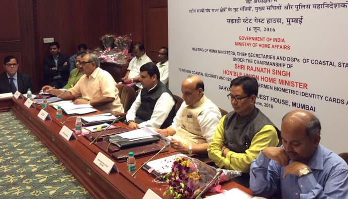 Rajnath Singh chairs coastal review meeting, calls maritime terrorism a big threat