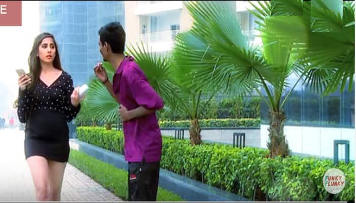 Viral video: When a beggar duped a rich girl outside a hotel