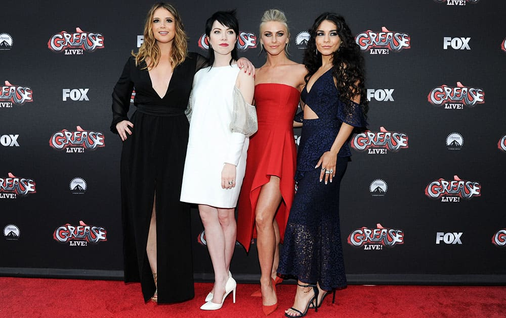 Kether Donohue, Carly Rae Jepsen, Julianne Hough and Vanessa Hudgens attend 'Grease: Live' FYC Event