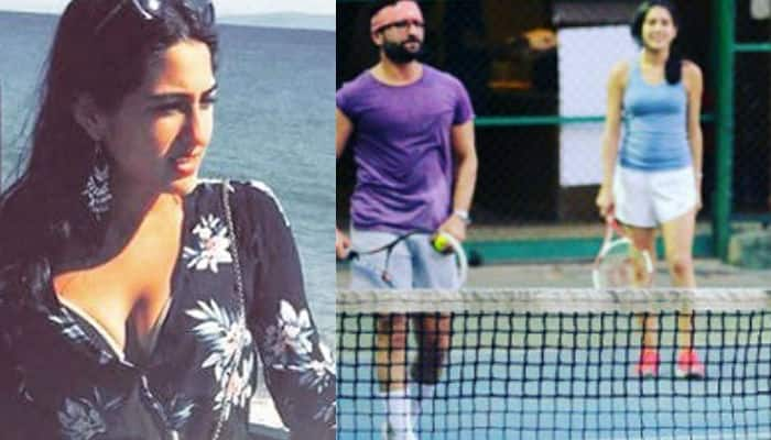 Oh nice! Saif Ali Khan playing tennis with Sara and Ibrahim will give you Father's Day goals – View pics