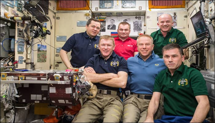 Expedition 47 crew members aboard ISS land in Kazakhstan!