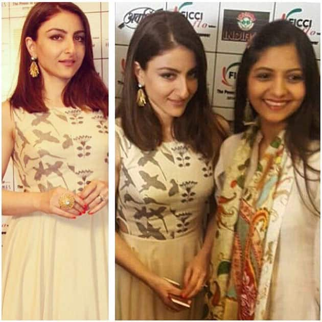 A lovely afternoon spent with the ladies of #ficci in Indore- soha ali khan