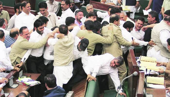 Opposition MLAs disrupt J&K assembly proceedings over price rise of essential commodities