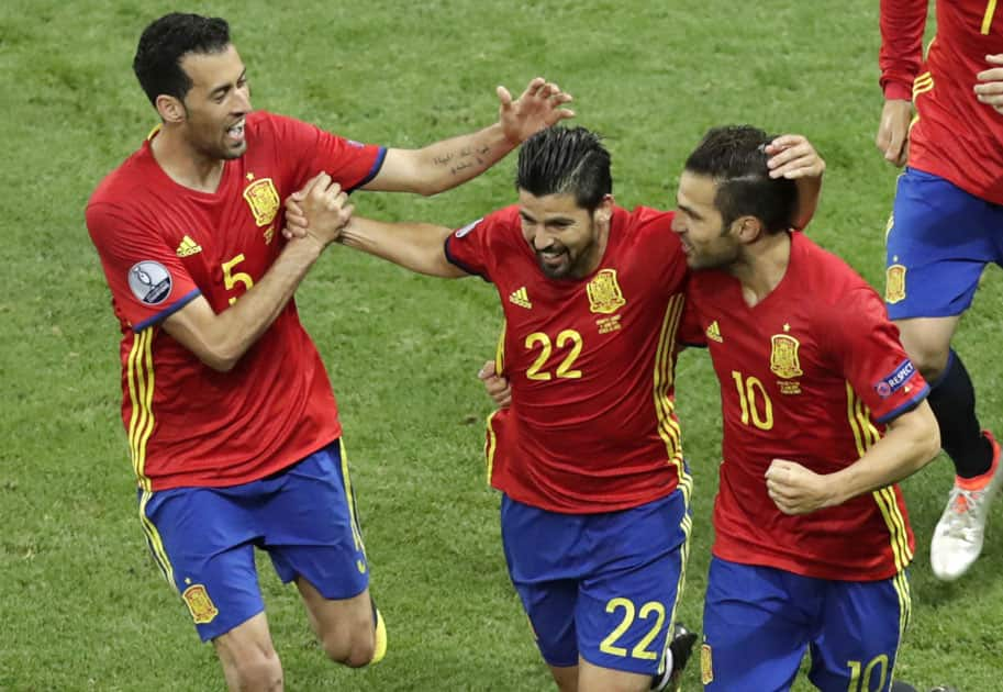 Nolito celebrates after scoring his side's second goal