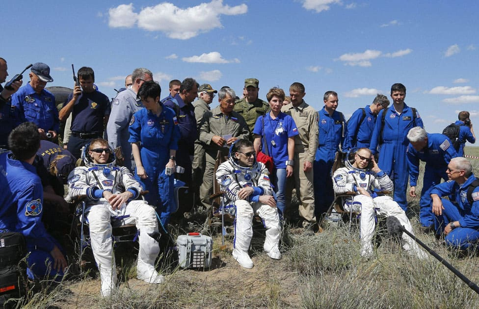 The International Space Station crew