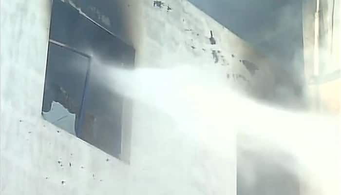 Huge fire breaks out at Noida packing factory - Watch video